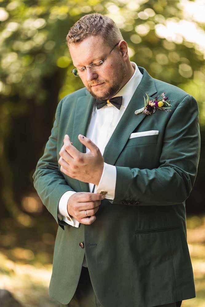 Bräutigam Brautpaarshooting Anzug