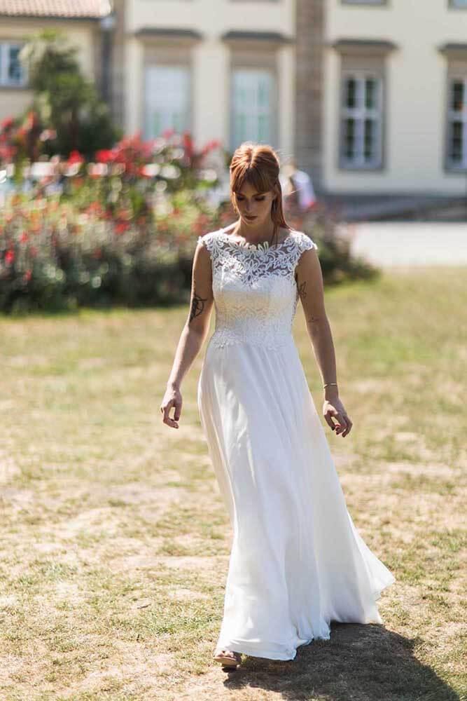 Braut am Wilhelm-Busch-Museum Hannover Hochzeitsfotograf Seelze