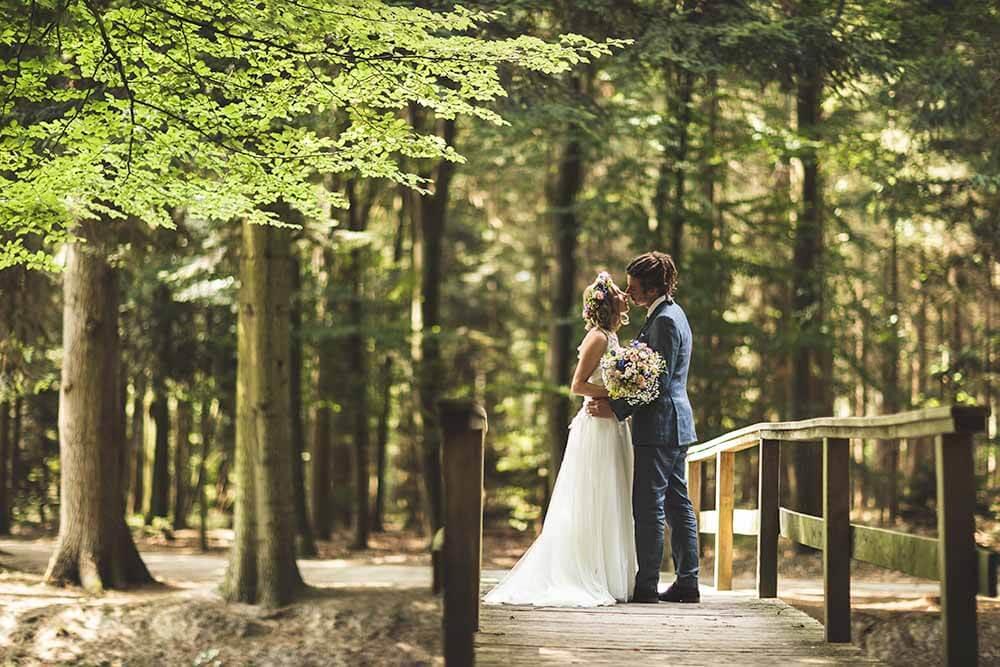 Brautpaarshooting bei Schloss Clemenswerth Hochzeitsfotograf Hannover Seelze
